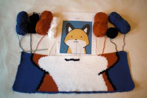 WIP StupidFox baby blanket Part 2 by WollMia