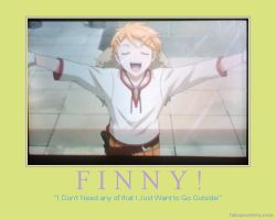 Finny Poster 1 -Black Butler Motivational Poster by AnnieSmith