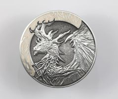 Forest Dragon coin - Bone variant by sandara