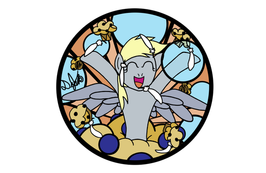 Derpy Hooves Design for Stained Glass by DevicTemple