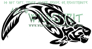Tribal Dunkleosteus Tattoo by WildSpiritWolf