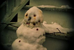 evil snowman by kwant