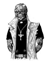 The Bloody Priest by AdrianBorgnine