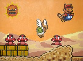 Super Mario 3 World Two by Squarepainter