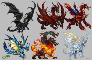Dragon Designs by Derlaine8