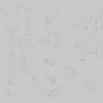 Red Panda Sketches by Messenger-Pigeon