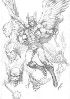 Hawkman Character Study by comiconart