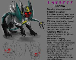 Fusebox Reference sheet by Moonpool