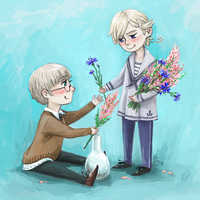 APH - heather and cornflower. by MadH