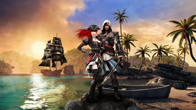 Assassin's Creed Black Flag Collage by LoveFYN