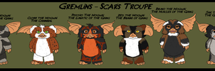 Gremlins - Mogwai Scarface's Troupe by GearGades
