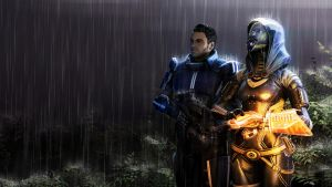 Tali and Kaidan by Yhrite