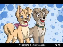 Angel and Scamp by Teritan