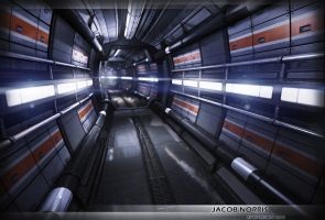 Sci-Fi Corridor Futuristic Environment by Jacob-3D