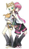 Vocaloid Larxene and Marluxia by Fuyumi-Aya