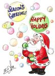 Holiday Card Project 2015: Season Bubbles by acla13