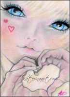 Signs of Love ACEO SKETCH FEST by Katerina-Art