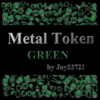 Metal Token Icons - Green by Jay33721