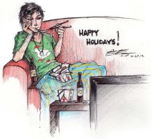 Original - Happy Holidays 2012 by fictograph