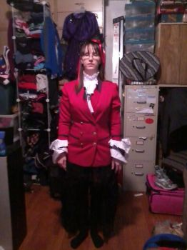 Gothic Lolita outfit frontal by pandagirl6662003