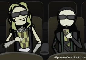 Going to the movies with brother by LitYousei