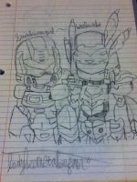 TF SoundwaveGirl and Warbandit .:request:. by LadybeeMetabeeFan