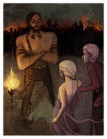 Daenerys Meeting Khal Drogo by amaltheas