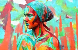 Bodypainting - neon I by mihepu