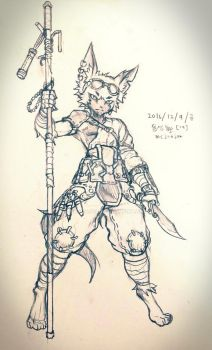 Doodle : Furry Thief  by mcjoajoa