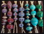 Handmade Glass Beads - Detail by DragonTreasureArt