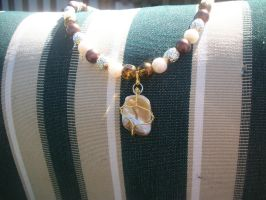 Gifts from the Sea Pearl necklace by WyckedDreamsDesigns