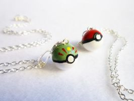 Pokeball Necklace by meh-anne
