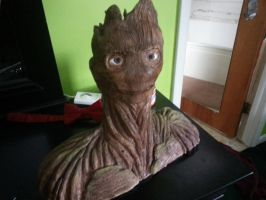 Groot Bust Front by myotpismylaptopandme