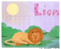 Lion for Brendan by Jodee