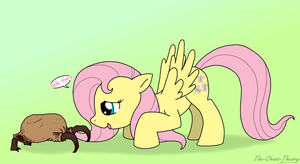 fluttershy's new friend by Sandwich-Anomaly