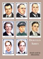 Downton Abbey Sketch Cards 2 by AllisonSohn
