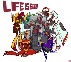 Life is good (Birthday gift) by Brickerer