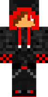 Red creeper jacket and guy for minecraft by Tails16