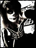 Skeleton Halloween '11 by villageofbree