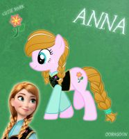 Anna Pony From Frozen by Doragoon