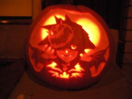Halloweentown Sora Pumpkin by mystaya171