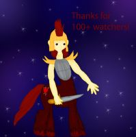Thanks for 100+ watchers! by WoefulWriters