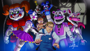 FNAF Sister Location fanart by LadyFiszi
