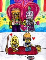 Lego Minifigure Couples by SonicClone