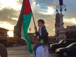 Palestinian father and son protest for palestine by mayaa199313