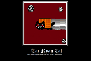 Tac Nyan Cat Motivational Poster by SoulEaterRagnorok