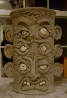Polynesian God Beer Mug-WIP by thebigduluth