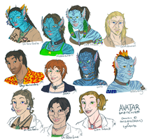 Avatar Skech Busts [Colored] by BGArts
