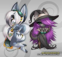 Annie and Zandria - STICKERS by jesonite