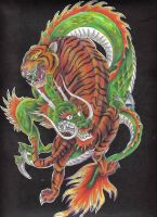 The tiger and the dragon by hellcatmolly